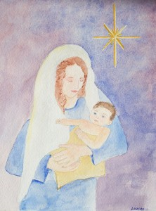 Christ, Our Greatest Gift, watercolor