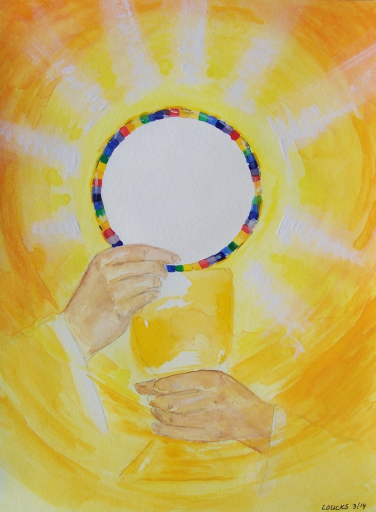 Eucharist, Watercolor