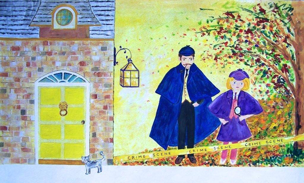 Sherlock, watercolor