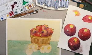 painting apples