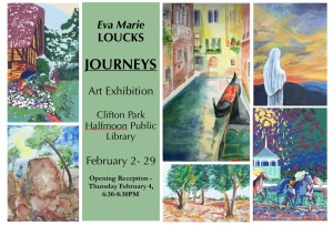 Postcard Clifton Park Library Show
