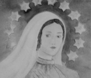 Queen of Peace, watercolor