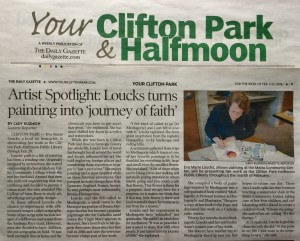 Newspaper article in the Your Town Clifton Park & Halfmoon weekly of The Daily Gazette of Feb. 5th