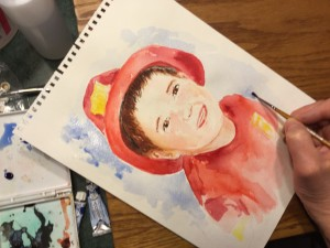 watercolor firefighter April 2016