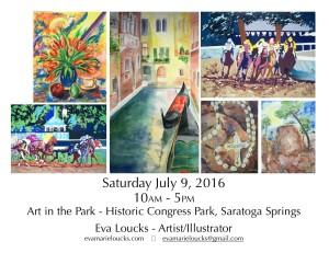 Art in Park July 2016
