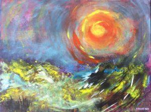 Sunset (swirly sun)