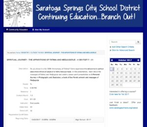 Saratoga Continuing Education Brochure Registration